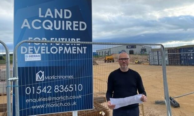 Morlich Homes director, John Main, at the site of the new production facility.