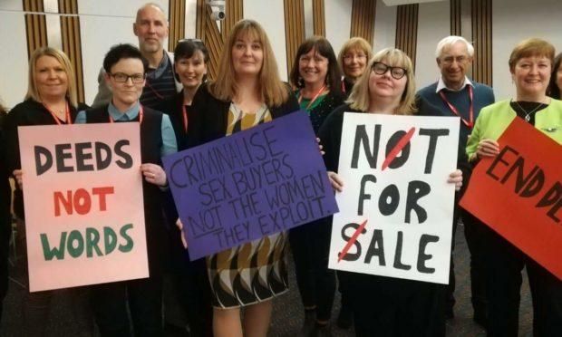 A Model for Scotland campaigners, including Mia de Faoite, Ruth Maguire MSP, Diane Martin CBE and Rhoda Grant MSP