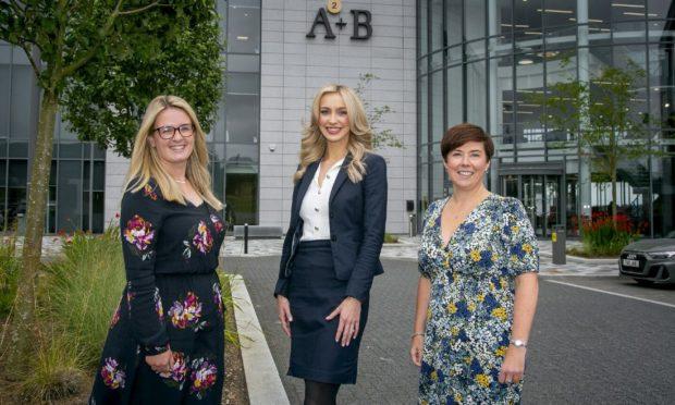 l-r, VFF director Lauren McIlroy, new manager Alex Wheelan and new senior manager Arlene Cumming.