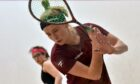 Scottish squash player Alison Thomson in action