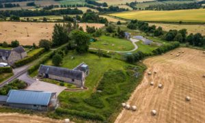 Escape to the country: Just 30 miles from Aberdeen, this steading conversion and tower house is a sight to behold.
