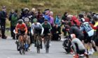 Huge crowds welcomed the Tour of Britain to Cairn O'Mount.