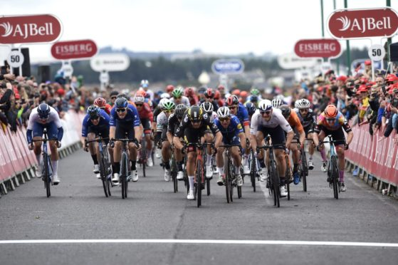 Huge crowds watched the final stage of the Tour of Britain.