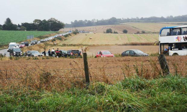 Crash on the A947 near Pitmedden turn off just outside Oldmeldrum.
