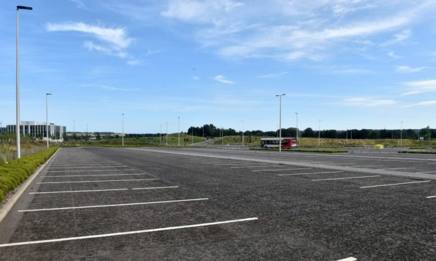 Craibstone Park and Ride, Dyce, Aberdeen. Picture by Darrell Benns/DCT Media