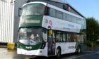 First Aberdeen new hydrogen double-decker bus produced by Jo Bamford's Wrightbus company