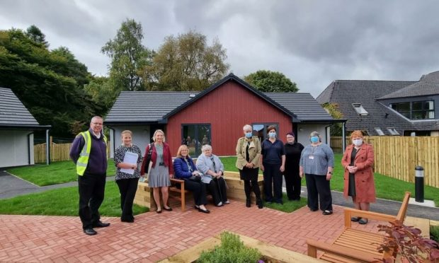 Representatives from Telford Care Home, NHS and community groups at the new housing project.