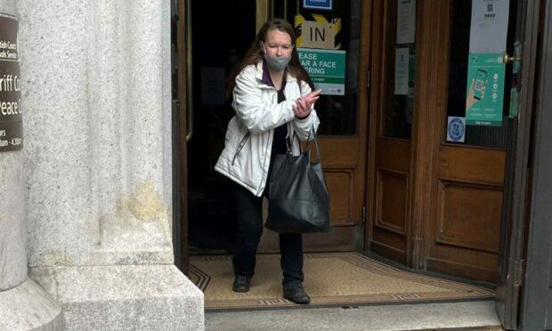Heather Jolly leaves Aberdeen Sheriff Court