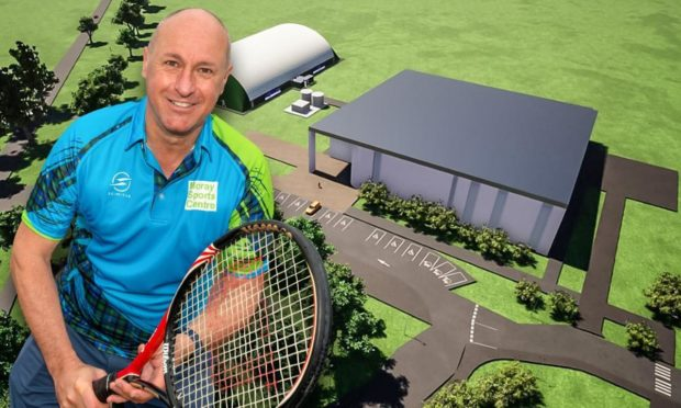 Moray Sports Centre new CEO Iain Stokes is excited about the new tennis facility.
