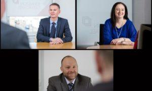 Johnston Carmichael's new board members - clockwise from top left, Graham Marjoribanks, Lynne Walker and Shaun Millican.