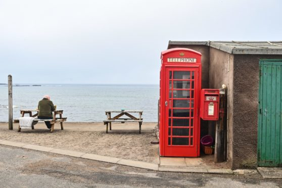 Pennan and the Pennan telephone box are pictured. Pictures by JASON HEDGES