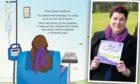 Jane Gillard with her new book which helps children understand cancer.
