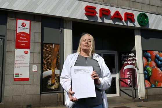 Fiona Campbell campaigned agains the closure of Seaton Post Office.