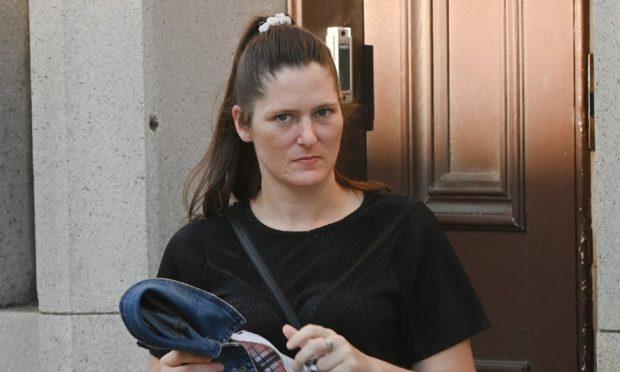 Laura Chapman leaves Aberdeen Sheriff Court.