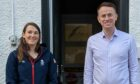 l-r Olympic skier Alex Tilley and Banchory-based investment manager Neil Stewart.
