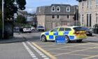 There has been a crash on Caroline Place. Photo by Kath Flannery.