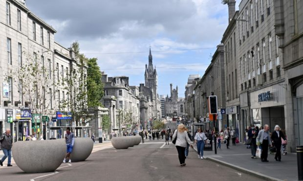 Union Street, Aberdeen. Picture by Kath Flannery.