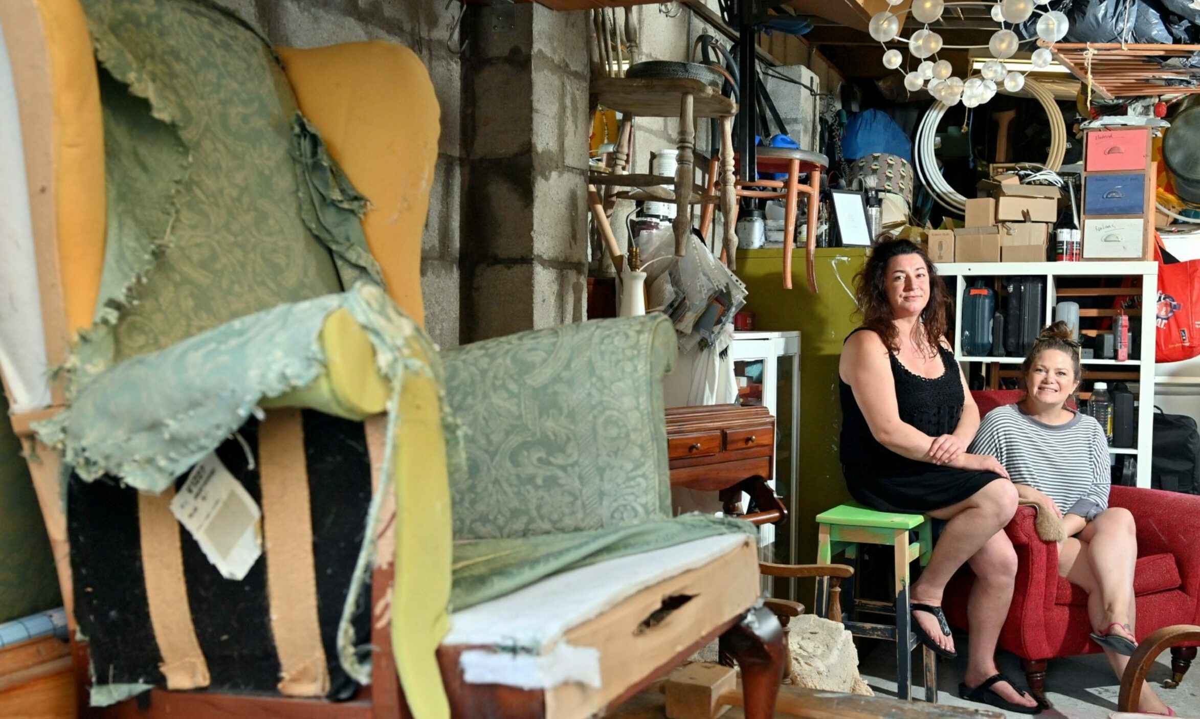 Amy and Ali of Flock Home believe up-cycling is more sustainable than buying new.