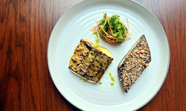 The monkfish main at Moonfish Cafe.