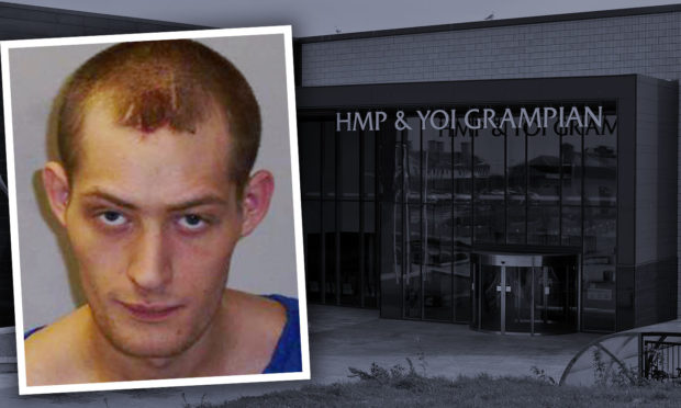 Lee Hipson trashed his cell at HMP Grampian.