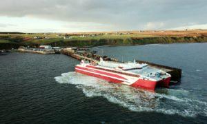 Pentland Ferries MV Alfred ferry in Gills Bay