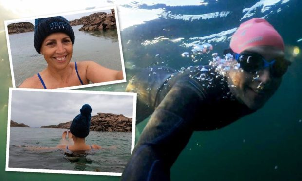 Wild swimmer Norma MacLeod has encouraged others to get checked after receiving a cancer diagnosis.
