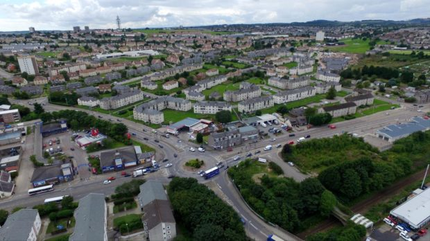 The Haudagain roundabout in Aberdeen is notoriously busy