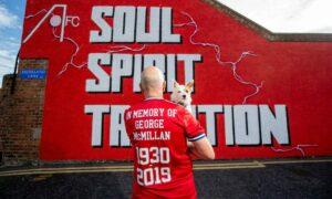 Graham McMillan, pictured with dog Maisie, will run the Loch Ness marathon.