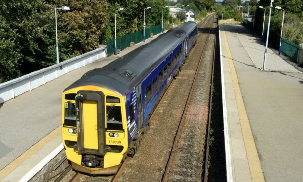 ScotRail services in the Highlands have been disrupted after a vehicle hit a bridge. Photo: Sandy McCook/DCT Media