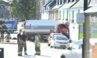 Incident involving a tanker in Beauly. Picture by: Sandy McCook