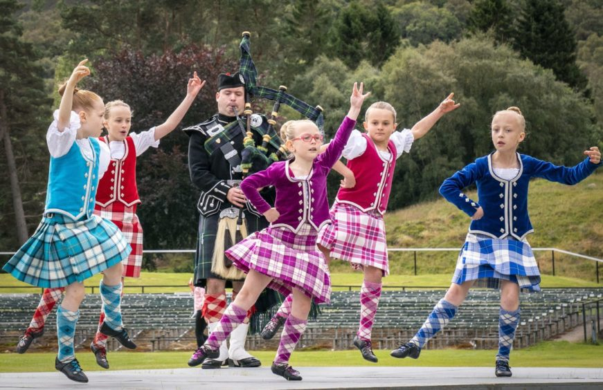 Highland dancers added colour to the event. Photo: Jane Barlow