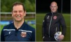 Rothes manager Ross Jack, left, and Brora Rangers boss Craig Campbell are both aiming to win the North of Scotland Cup