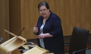 Jackie Baillie at the Scottish Parliament.