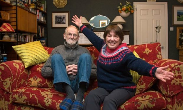 Stewart and Betty Duncan pictured on Christmas Day, by photographer son Graeme.