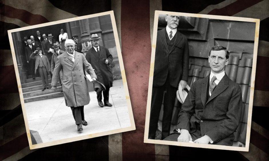 David Lloyd George and Sinn Fein leader Eamonn De Valera.