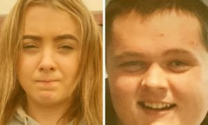 Police appeal to trace missing Inverness teens Nathan Alexander Bell and Danielle Cameron. Supplied by Police Scotland.