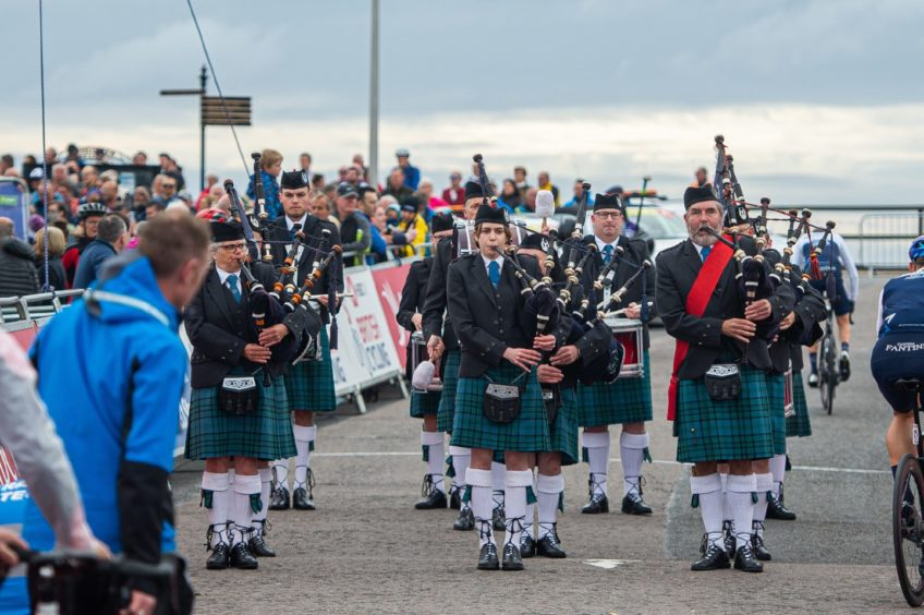 Bagpipe music filled the air as the eighth and final stage of the endurance event got underway.