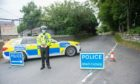 A 35-year-old male cyclist has died after falling off his bike near Westhill