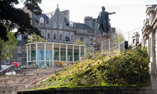 The Rosemount Pavilion in Union Terrace Gardens, Aberdeen.