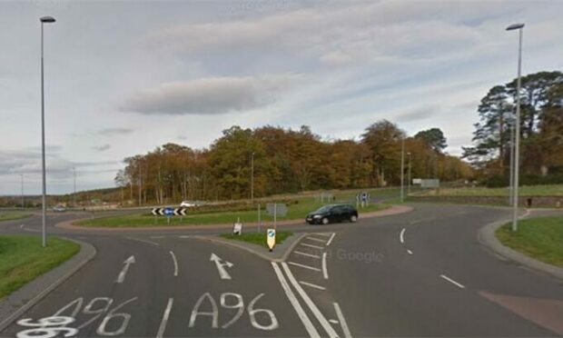 Fochabers East roundabout.