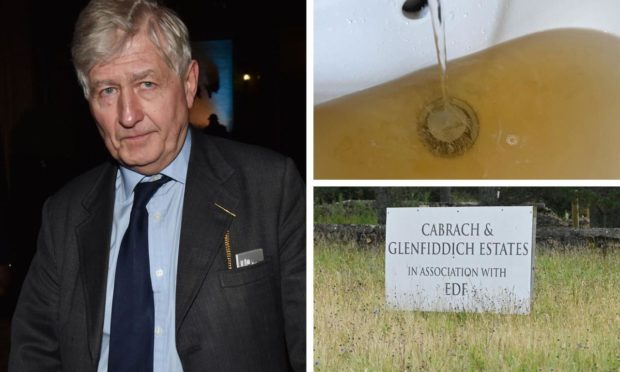 Moray Council discovered a dirty water supply inside some houses on Dr Christopher Moran's estate.
