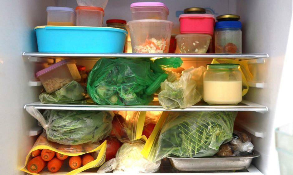 A stocked fridge.