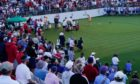 The first tee at the Solheim Cup. If they had a bit more variety in their chants, it would have been even better.