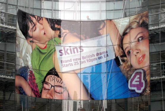 Channel 4 headquarters in London advertising the launch of Skins i 2007 (Photo: Ray Tang/Shutterstock)