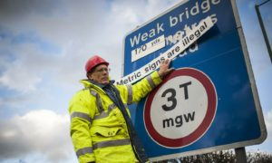 Tony Bennett, a member of Active Resistance To Metrification, campaigned to use imperial measurements on road signs in 2016 (Photo: Roland Hoskins/ANL/Shutterstock)