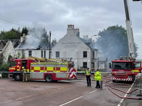 An Argyll community is rallying to support the owners of the Taynuilt Inn, which was destroyed in a fire.
