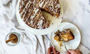 Tasting Thyme's autumnal cake.