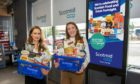 L-R Jessica Van Tromp, Scotland Food & Drink commercial supply development officer & Kirsty George, Scotmid local sourcing manager