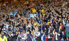 Scotland fans at full time after the win against Israel.