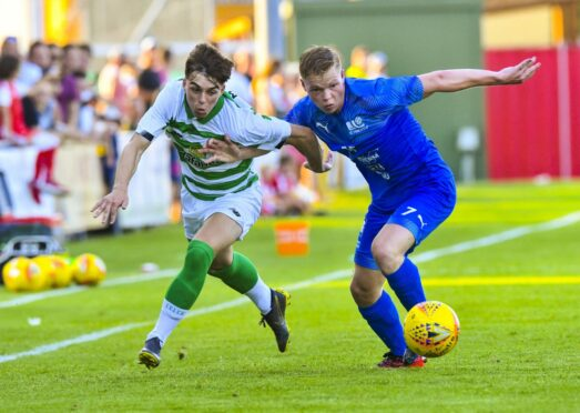 New Peterhead signing Grant Savoury in a pre-season friendly for Celtic.